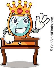 rey, tocador, caricatura, mascota
