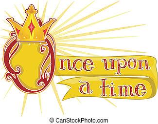 rey, una vez, sobre, tiempo