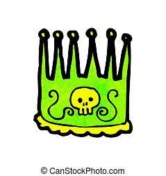 reyes, corona, caricatura
