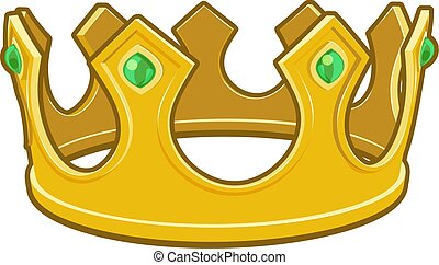 reyes, corona, caricatura, oro