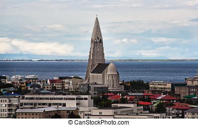 Reykjavik city view, Iceland - Reykjavik city view with...