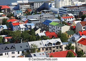 Reykjavik, downtown Iceland.