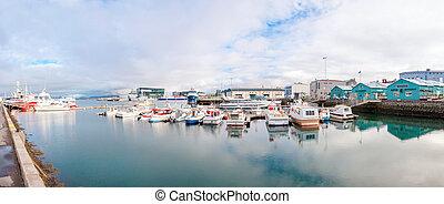 Reykjavik harbor, Iceland