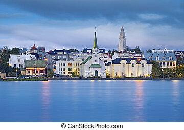 Reykjavik, Iceland. - Image of Reykjavik, capital city of...