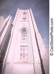 Landakotskirkja (Landakot Church), formally named Basilika Krists konungs (Basilica of Christ the King), usually referred to as Kristskirkja (Christ's Church) - Catholic cathedral of Iceland, located in Reykjavik.