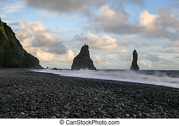 Reynisdrangar Black Sand Beach in Iceland
