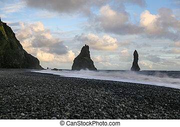 Reynisdrangar Black Sand Beach in Iceland