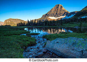 Reynolds Mountain in the Logan Pass area of Glacier National...
