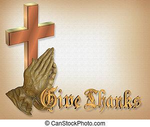 rezando, acción de gracias, manos