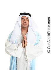 rezando, bíblico, hombre