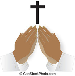rezando, juntos