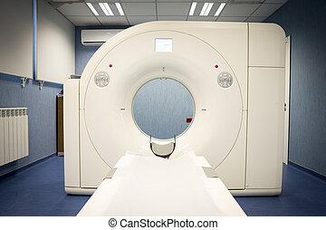 rezonans, magnetyczny, odwzorowując, (mri), skandować