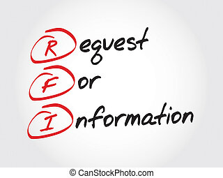 Request For Information - RFI Request For Information, ...