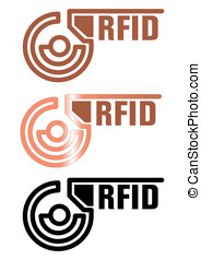technology - RFID cards. Remote data transmission...