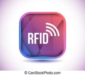 RFID icon vector
