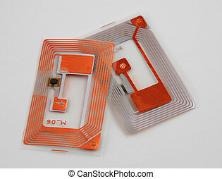 RFID tags - Stock pictures of several types of rfid tags and...