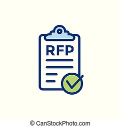 RFP Icon - request for proposal concept or idea