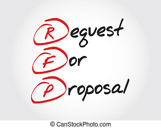 RFP - Request For Proposal, acronym business concept