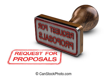 RFP, Request for Proposals over White Background - Request...
