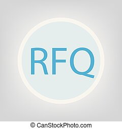 RFQ (Request For Quotation) concept- vector illustration