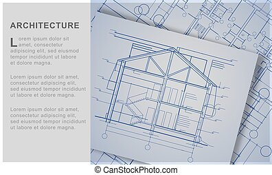 ???????? RGB - Architectural background. Vector illustration...