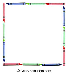 RGB Border - A border made with RGB crayons for all your ...