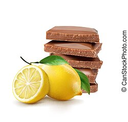 ???????? RGB - Chocolate with lemon flavor. Vector...