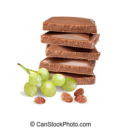 ???????? RGB - chocolate with raisins. vector illustration...