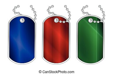 RGB Clour Dog Tags
