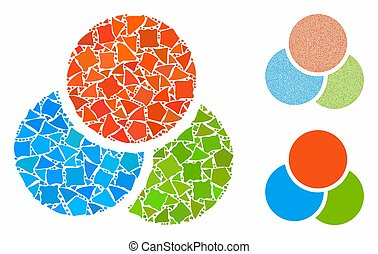 RGB color circles Mosaic Icon of Raggy Items
