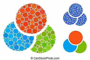 RGB color circles Mosaic Icon of Spheric Items