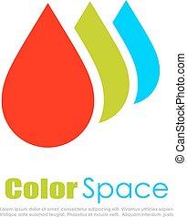 Rgb color drop vector logo