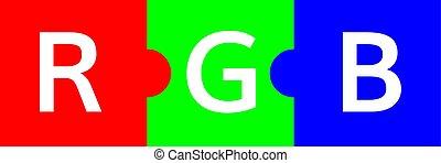 RGB color  scheme  puzzle illustration