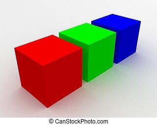 rgb cubes
