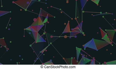 RGB dimension microcosm.Abstract plexus background for...