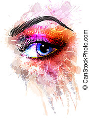 ???????? RGB - Eye made of colorful splashes