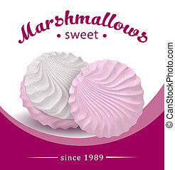 ???????? RGB - Fresh and delicious pink marshmallow. Design...