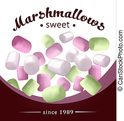 ???????? RGB - Fresh and delicious pink, white marshmallow....