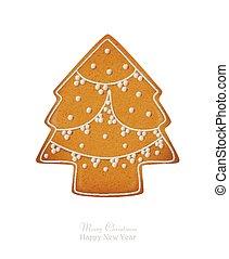 ???????? RGB - Gingerbread. Christmas tree. Vector...