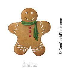 ???????? RGB - Gingerbread man decorated colored icing....