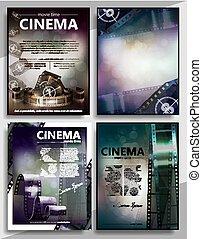 RGB - Movie premiere mini promo poster templates set ...
