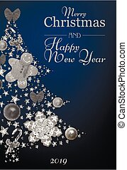 ???????? RGB - New Year or Christmas card concept. Vector...