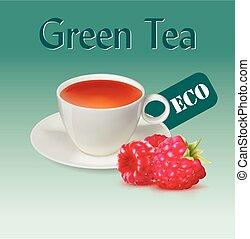 ???????? RGB - Raspberry Tea illustration. Vector.