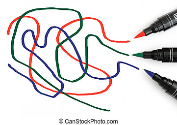 RGB Scribbles - RGB scribbles drawn by color markers on...