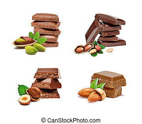 ???????? RGB - Set of peanuts, hazelnuts, pistachios,...