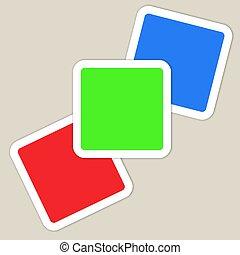 Rgb slides - Red green blue slides
