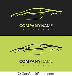???????? RGB - Sport car design card. vector illustration.
