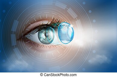 ???????? RGB - The human eye. Contact lenses. Ophthalmology...