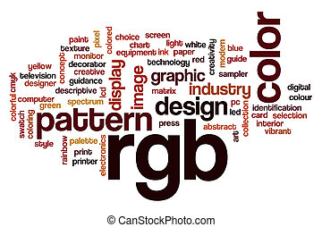 RGB word cloud concept