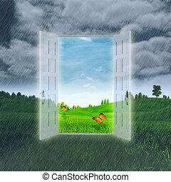 rgeöffnete, abstrakt, hintergruende, optimistisch, summer.,...